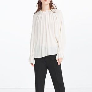 ZARA Gauze Top Blouse Shirt. NWT